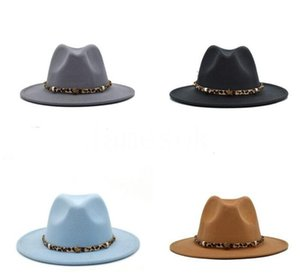 Fashion Outdoor Leisure Men's Big Cornice Hats Jazz Cap Spring Women's National Caps Party Hat 21 Colors DB682