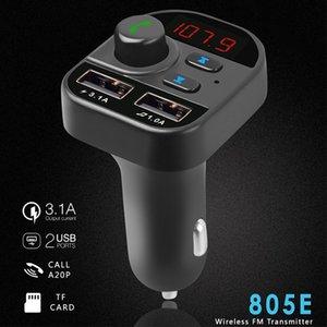투사 FM 변환기 블루투스 자동차 핸즈프리 무선 블루투스 FM 변조기 송신기 LCD MP3 플레이어 USB 충전기 자동차 키트