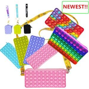 Pop Fidget Toys Push It Bubble Popper Decompression Sensory Stress Relief Toy Simple Dimple Antistress Artifact Handbag Style-TOPN343