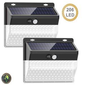 136 206 208LED Solar Motion Sensors Wall Lamp Three Side Glowing Outdoor Waterproof Courtyard Security Light For Garden Stairs Garage Patio Front Door Fence