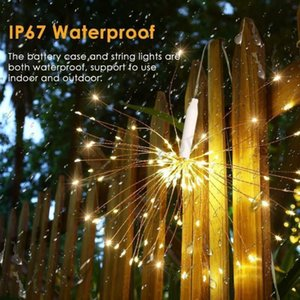 120 150 Leds DIY Firework Copper Fairy Garland Christmas Lights Outdoor Twinkle Light Festival Hanging Starburst String Party Decoration