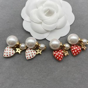 Fashion luxury design stud earrings star pearl earring for ladies street photo party wedding jewelry accessories