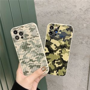 Fashion Camouflage Slide Phone Cases For iPhone 11 12 Pro X XR XS Max 7 8 Plus SE2020 Push Pull Lens Protection Silicone Cover