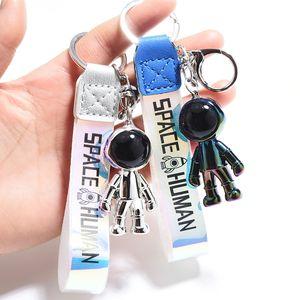 Fashion Robot Spaceman Astronaut Keychain Acrylic Rocket Saturn Alien Pendant Couple Keyrings Backpack Jewelry Key Chain Bag Car