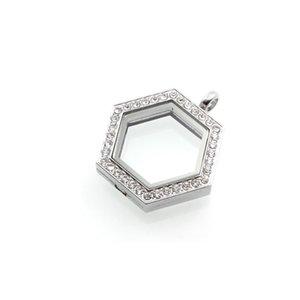 Hot Selling Novelty Hexagon Heart Magnetic Crystal Diy Floating Memory Living Locket Pendant Gift For Girls Women Daughter With Prskl 834 Q2