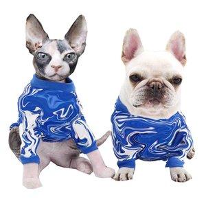 Striped Printed Pet Sweater T Shirt Classic Pets Cat Dog Apparel Bulldog Teddy Pug Puppy Clothes