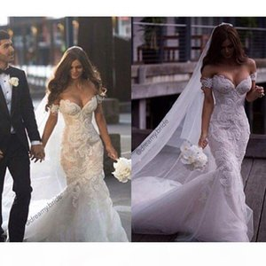 Mermaid Sexy Wedding Dresses 2021 Beaded Bride Dresses Lace Appliques Off Shoulders Wedding Dresses Bridal Gowns Plus Size Custom Made