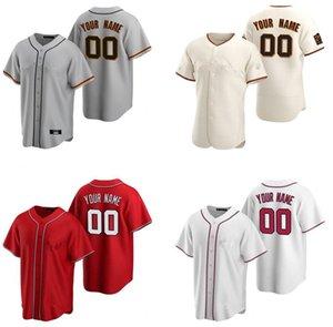 DIY Пользовательские Любые имени номер San Francisco Вашингтон Бейсбол Джерси Мужчины Женщины Молодежь Детская Рубашка Одежда Одежда Детская одежда 04
