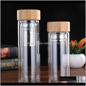 Clear Glass Cups Practical With Tea Infuser Filter Tumbler High Temperature Resistant Water Bottles For Office Adults Pydhe Kgrdb