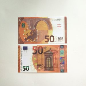 Детские игрушки Скопировать деньги 10 20 50 евро Искусственный заготовка ночь Кулб вечеринки фильма деньги развлечения банкноты принципиальные деньги