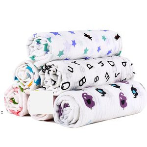 Muslin Baby Blanket Cotton Newborn Swaddles Bath Gauze Infant Wrap Kids Sleepsack Stroller Cover Play Mat 78 Designs BWA7383