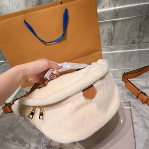 Designer Bags 2021 winter Teddy series men and women waist bag plush high quality Cross body 2 colors 31 * 26cm