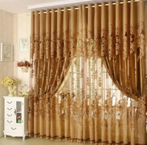 100*270cm Modern Fashion Window Screening Curtain Finished Product Window Curtains Without Blackout Lining Curtain Living Room Decor ZHL343