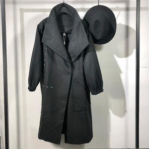 Оуэн Seak Men Parker Пальто Куртки Готический Длинные Мужские Одежда Транчковая Одежда Зимний Весна Пыль Пыль Black Black Japan