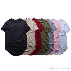 QNPQYX Fashion men extended t shirt longline hip hop tee shirts women swag clothes harajuku rock tshirt homme