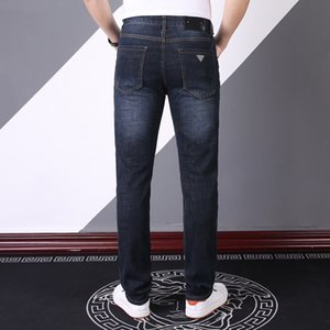 2021 new designer jeans mens denim pants business Must-have spring and summer gentlemen Imported high-quality denim Soft comfortable thick Luxury high-end trousers