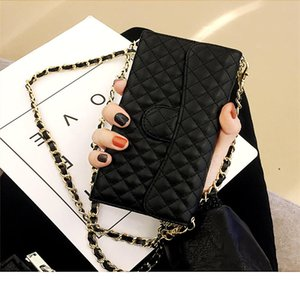 Lambskin Leather Flip Wallet Chain Handbag Case Cover For iPhone 12 Mini 11 Pro XS MAX X XR 7 8 Plus SE 2020 Shoulder Bag Case