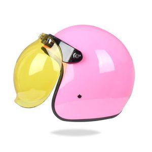 Мотоциклетные шлемы Винтаж Шлем для взрослых Унисекс классический Ретро Открытый дизайн лица Легкая точка Сертифицированный мотоцикл Cruiser M