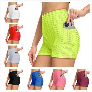 Pantalones cortos para mujer Leggings Verano Yoga Gimnasio Jogging Transpirable Transpirable Fitness Sólido Color Fino Flyny Deportes Tiktok Legging Lu 2021 S / M / L / XL / 2XL
