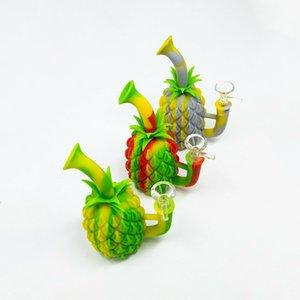 Pineapple Silicone Hookah Water Pipe Smoking Bongs Bowl Shisha Pot