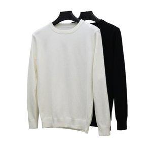 Мужские свитера Высококачественные с длинным рукавом Свитер простые твердые O-шеи повседневные вязаные пуловеры мужские спортивные перемычки