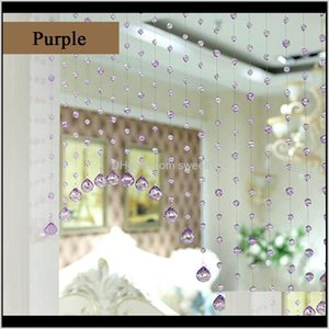 Blinds Décor & Garden Drop Delivery 2021 1Pc Crystal Glass Beads Door String Tassel Curtain Divider Pane Loom Decoration Window Shades Home S