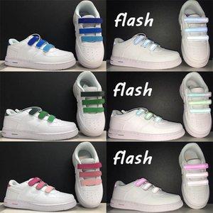 Классики дети постепенное изменение липучки 1'07 Skate Shoes Детская 3M Reflectiver Safety Studio Spo Shoes Shoes Boys Girls Youth Force Snows