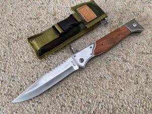 AK-47 M9 single action tactical self defense folding edc auto pocket xmas gift knife auto knives