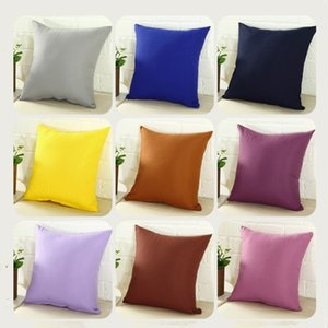 Pillowcase Pure Color White Pillow Cover Car Cushion cover Decor Case Blank Christmas Gift 45 * 45CM T2I51840