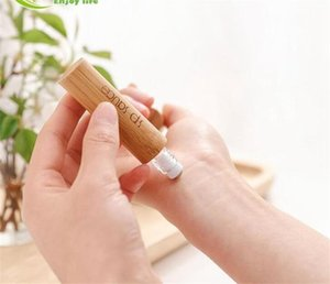 Essential Oils Diffusers 10ml Natural Bamboo Refillable Empty Perfume Fragrance Scent Steel Roller Ball Bottle For Home Travel