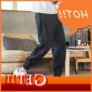 Dressed Handbook mens 2020 jogging moda aleatória solta Cato de linho Broek tamanho streetwear 5xl