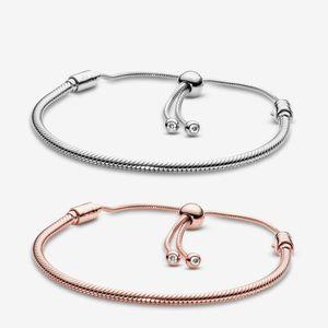 Pandora Bracelets Women Jewelry Moments Snake Chain Slider Charm Bracelet Design Fashion Classic Lady Gift With Original Box