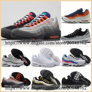 Classic Sports Boots Fashion Mens OG 95s Triple Black White Chaussures Women Sneakers Outdoor Casual 95 Neon Laser Fuchsia Red Orbit Bred Aqua Trainer Runnning Shoes