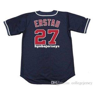 저렴한 사용자 정의 Darin Erstad 캘리포니아 스티치 1996 년 장엄한 빈티지 야구 저지 레트로 망 셔츠 셔츠