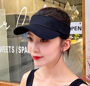 Summer Unisex Empty Top Sun Visor Hat Knitting Wide Brim Caps UV Protection For Men And Women Hats