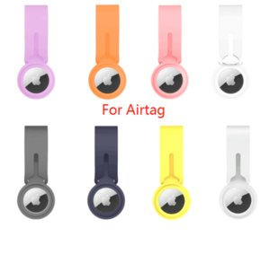 Loop Silicone Case Protective Cover straps for Airtag Aplle anti-lost Anti-fall Soft like skin Key chain Colorful Cell phone
