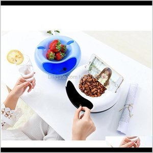 Bowls Style Creative Plastic Lazy Fruit Bowl For Seeds Nuts And Dry Fruits Double Floor Sqccti Mp8Qb Bi0Td
