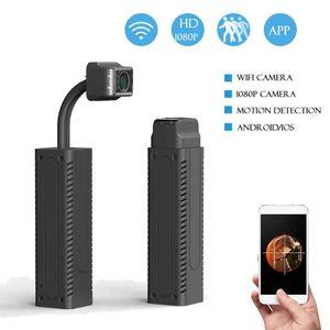 Mini Cameras Portable Retractable WiFi Camera With Night Vision 1080P HD P2P Remote View Surveillance IP Cam Micro Video Recorder
