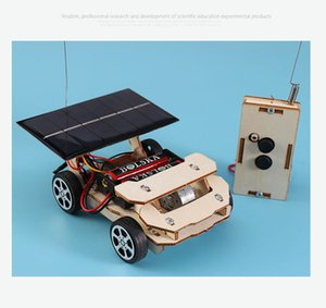 Science and technology DIY solar wireless remote control car science experiment small invention education children's toys