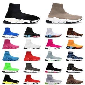 2021 Носка Спортивная обувь Мужские Женщины Платформа Кроссовки Дизайнер Повседневная Обувь Тройной Черный Пекин Мода Роскошки Досуг Носки Сапоги Бегуны 36-45