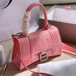 Bolsas de Grande Capacidade Mulheres Luxurys Designer Balencaiga Bag Mulheres Couro Mulher 2021 Nova Moda Versátil Família Crocodilo Ampulheta Cross Netgg