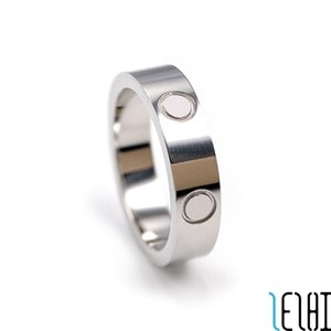 Classic Couple Wedding Promise Eternity Love Rings Woman Man Stainless Steel Plating 18k Silver Ring For Women Men Wed Engagement Jewelry 3 Colors 5g Wholesale