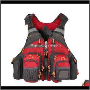 Buoy Vest Outdoor Life Sport Flying Men Respiratory Jacket Multifunctional Portable Fishing Armor Reflective Tactical 9Kjgt I7Vco