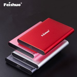 Feishuo External hard disk drive 250GB 320GB 500GB 750GB 2T Portable external 1TB hdd for laptop with Type C USB 3.1