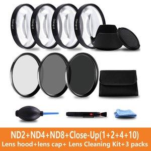 Camera filter set close up filter 10 set + UV CPL FLD + ND2 4 8