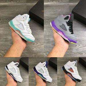 Niños pequeños para niños pequeños 5S Vuelo internacional East Niños Zapatillas de baloncesto 5 Bel-Aney Sports Sneaker 1.5Y 2.5y 3y Boy Fresh Prince Nrg Muchacha Isla Greentrainer