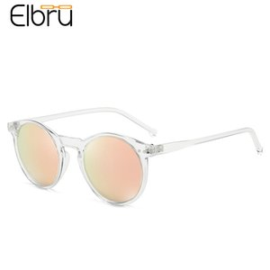 Sunglasses Elbru Fashion Soft Transparent Frame Polarized Colorful Clear Lens Sun Glasses Classic Retro Eyeglasses for Men&women