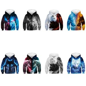 Wolf 3D Oversized Boys Hoodies for Girls 10 14 years old Teenagers Children's Sweatshirt for Boys Sweat Shirt Child Kids Clothes 1154 Y2