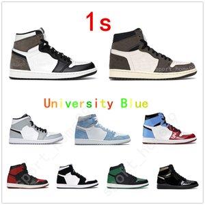 20 21 1 high OG basketball shoes 1s mid chicago royal toe black metallic gold University Blue black UNC Patent men women Sneakers trainers