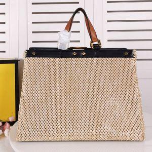 Bolsas de compras Grande Capacidade Pacote Mulheres Saco De Compras Carta de Crochet Letra de Alta Qualidade Torção Trabalho Artwork Sacos de Viagem Plain